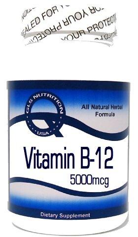 Vitamin B-12 (As Cyanocobalamin) 5000Mcg 200 Capsules ^Gls