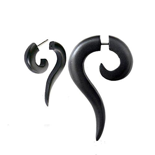 chic-net-tribal-spiral-earring-faux-sono-bois-allonge-dentelle-noire-percage-en-acier-inoxydable-1-m