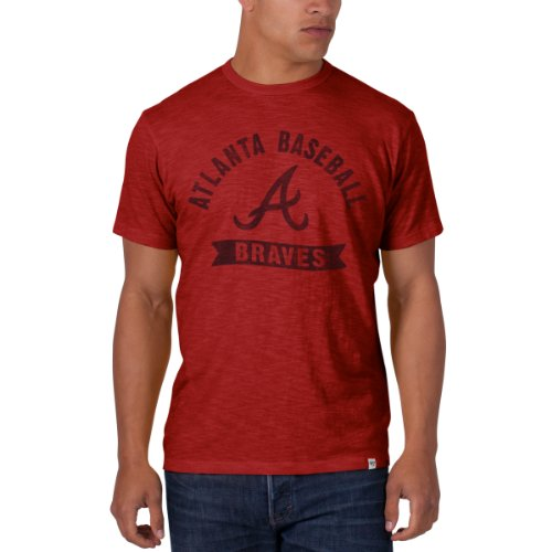 Mlb Atlanta Braves Men'S Scrum Basic Tee, X-Large, Rescue Red front-939986