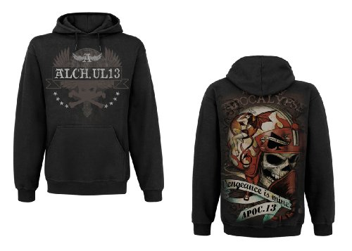 'Sweet Vengeance' - Men's Hoody Solid Black - Black - Small