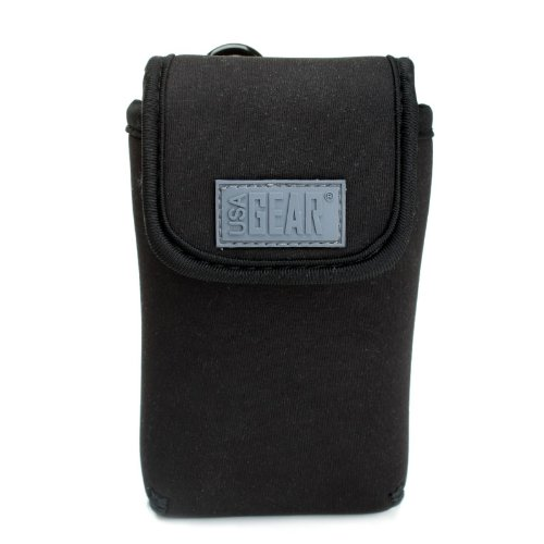 usa-gear-black-neoprene-camera-case-sleeve-pouch-with-travel-carabiner-clip-memory-card-pocket-secur
