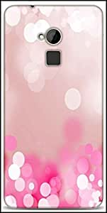 Snoogg Pink Lock Haze Designer Protective Back Case Cover For HTC One-Max