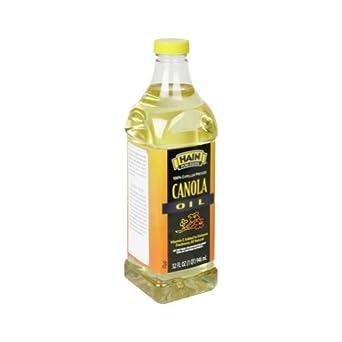 Hain Pure Foods Canola Oil, 32 Ounce -- 12 per case.
