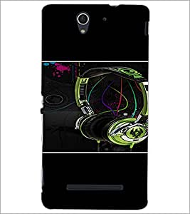 PrintDhaba Music D-1391 Back Case Cover for SONY XPERIA C3 (Multi-Coloured)