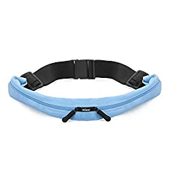 Running Belts, Waterproof Expandable Sports Fitness Runner Waist Pack Double Bag for Trail Running, Hiking, Exercise and Workout Free Bonus a Pair of Elastic No Tie Shoelaces from Unigear