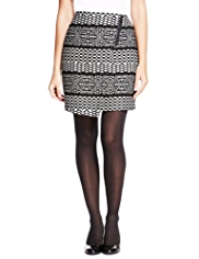 M&S Collection Asymmetric Wrap Mini Skirt with Wool