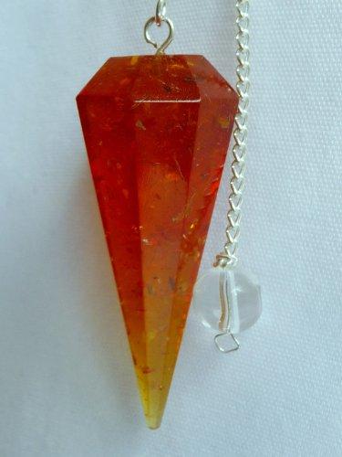 Faceted Amber Pendulum