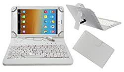 ACM Usbck8W0019 Acm Premium Usb Keyboard Tablet Case Holder Cover For D-Link D100 With Free Micro Usb Otg (White)