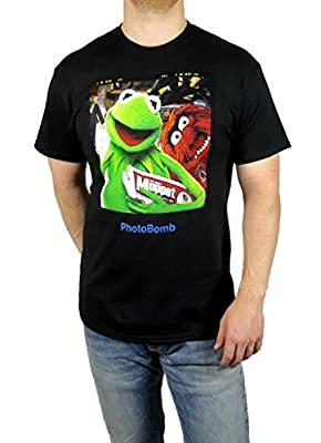 Disney Muppets Kermit The Frog Animal Photobomb T-shirt Black