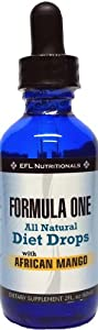FORMULA ONE TM All Natural Diet Drops with African Mango. For use with the Formula One Diet Plan, Includes Allowable Foods List, Basic Diet Instructions Guide & Our Top Rated Customer Service. by EFL NUTRITIONALS
