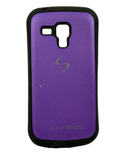 iCandy™ Premium Quality Black Boarder Leather Finish Soft Back Cover For Samsung Galaxy S Duos S7562 / Samsung Galaxy S Duos 2 S7582 - Purple  available at amazon for Rs.119