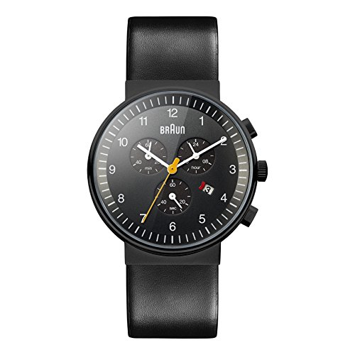 Braun Men's BN0035BKBKG Classic Chronograph Analog Display Quartz Black Watch (Braun Quartz Watch compare prices)
