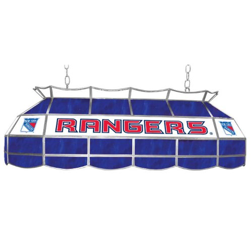 NHL New York Rangers Stained Glass 40 inch Lighting Fixture