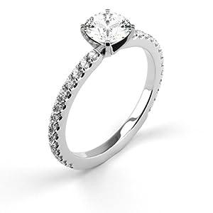 14K White Gold Ring Natural Certified Diamond 1.53 Carat Weight Round Brilliant Cut E SI3 IGL Certificate