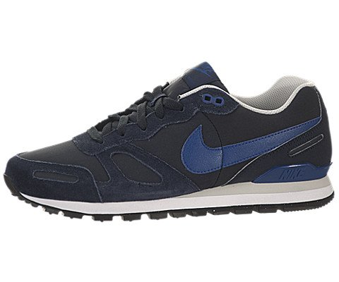 Nike Air Waffle Trainer Leather, Unisex-Erwachsene Sneakers, Grau (Drk Obsdn/Gym Bl-Lght Ash Gry), 47.5