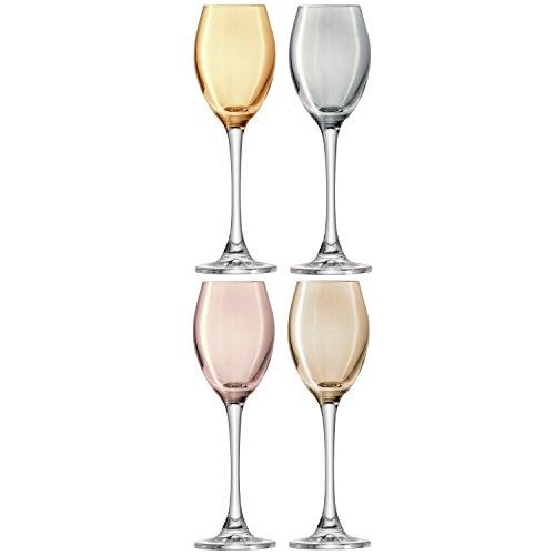 lsa-international-70-ml-polka-liqueur-metallic-glass-assorted-pack-of-4