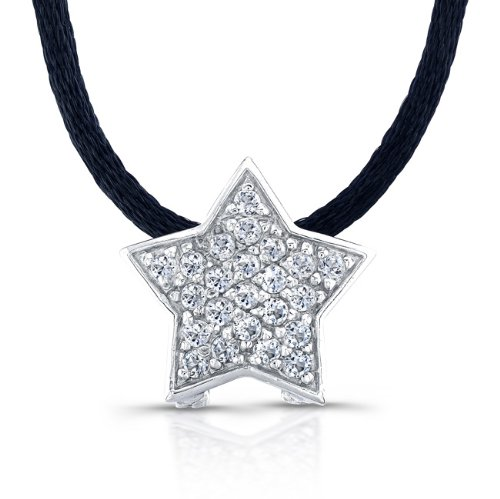 The Seventeen Magazine Jewelry Collection-Sterling Silver and White Topaz Star Necklace