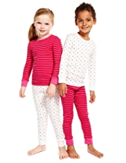 2 Pack Pure Cotton Star & Striped Pyjamas