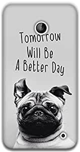 The Racoon Grip happy pug hard plastic printed back case / cover for Nokia Lumia 630