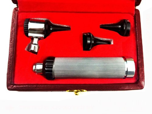 Zzzrt 5368 Ent Otoscope Diagnostic Set Stainless Steel + Free Protective Case