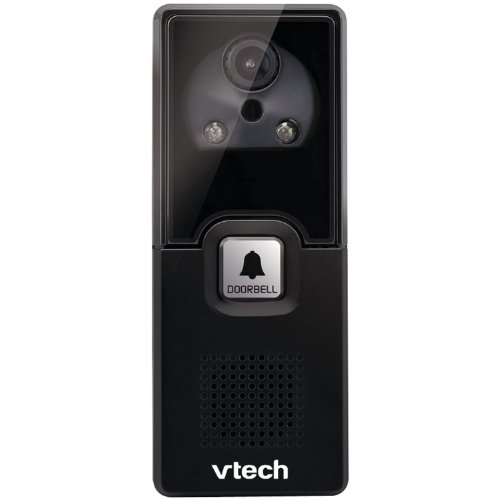 VTech IS741 Accessory Audio/Video Doorbell Camera for VTech IS7121, Black