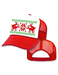 Humping Reindeer Sweater Trucker White