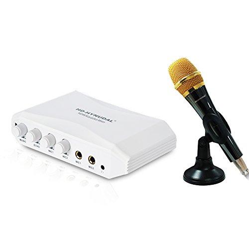 HD-HYNUDAL® White HDMI Karaoke Mixer-K9H Online Singing Machine+1 Condenser Mic for Phone DVD Laptop Tablet PC (Hdmi Mic Mixer compare prices)