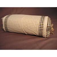 坊主枕格子柄/大型そば殻まくら/男性に人気の枕です厳選そば殻使用・日本製/枕カバー付き/