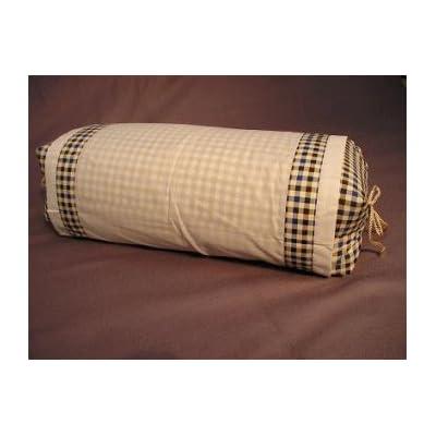 坊主枕格子柄/大型そば殻まくら/男性に人気の枕です厳選そば殻使用・日本製/枕カバー付き/送料無料