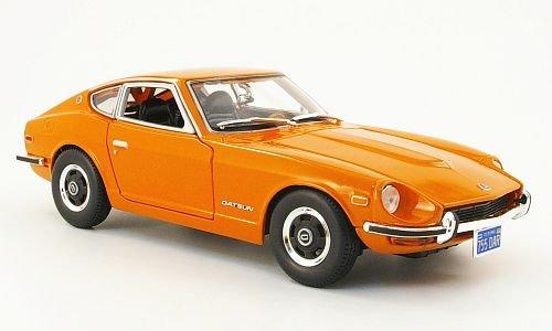 Datsun-240Z-orange-1971-Modellauto-Fertigmodell-Maisto-118