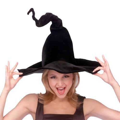 Rubie's Costume Co Wired Witchhat-Blk Velour Costume - 1
