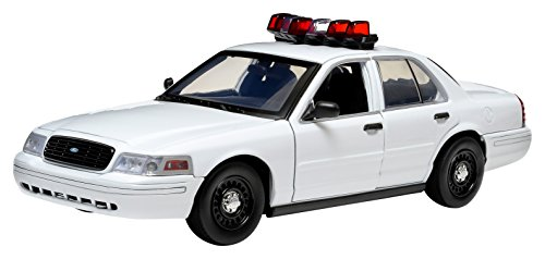 GreenLight Collectibles Ford Crown NYPD Victoria Interceptor Vehicle with Lights & Sound (1:18 Scale), White