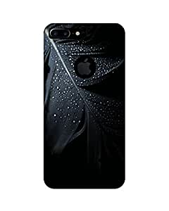 GripIt Black Feather Printed Case for Apple iPhone 7 Plus