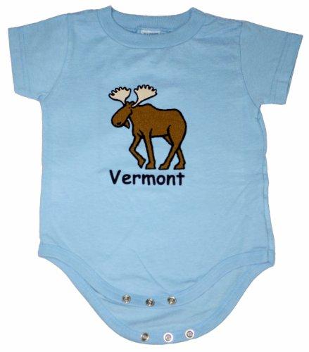Rabbit Skins Baby Boys' Block Moose Onesie Vermont