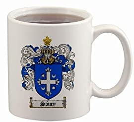 Soucy Coat of Arms Mug / Family Crest 11 ounce cup