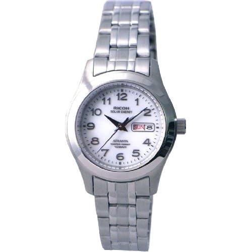 [リコー]RICOH 腕時計 ATRANTA(アトランタ) ソーラー充電 アナログ表示 スタンダード 10気圧防水 アラビアインデックス ホワイト 698004-11 レディース