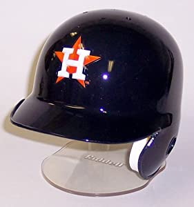 Houston Astros Riddell Mini Baseball Batting Helmet - with display stand by Creative Sports