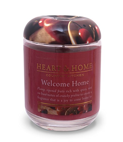 Heart & Home Large Glass Welcome Home Candle