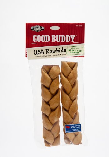 Good Buddy 7 Inches Usa Rawhide Braided Sticks,