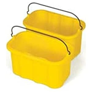 Rubbermaid Commercial Prod. 9T8200YW Sanitizing Caddy, 10 Quart, 14 in.x7-1/2 in.x8 in., Yellow