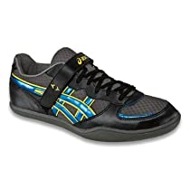 ASICS Hyper Throw 2 Throwing Shoe,Black/Jet Blue/Yellow,11.5 M US