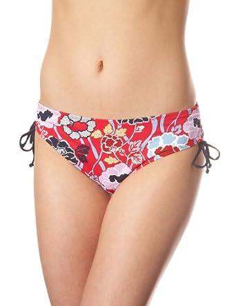 """Panache """"Loren"""" Drawside Swim Brief #SW0513 (2XL, Red Floral)"""