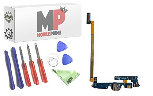 Samsung Galaxy S4 Active I9295 Charging Charge Port Flex Cable Prime Repair Kit with Certified Repair Tools- MOBILEPRIME (Galaxy S4 Active Repair Kit compare prices)