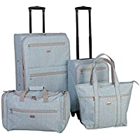 American Flyer Meander 4-Piece Luggage Set (Teal)