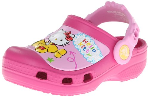 crocs CC Hello Kitty Plane NA Clog (Toddler/Little Kid),Fuchsia,10 M US Toddler