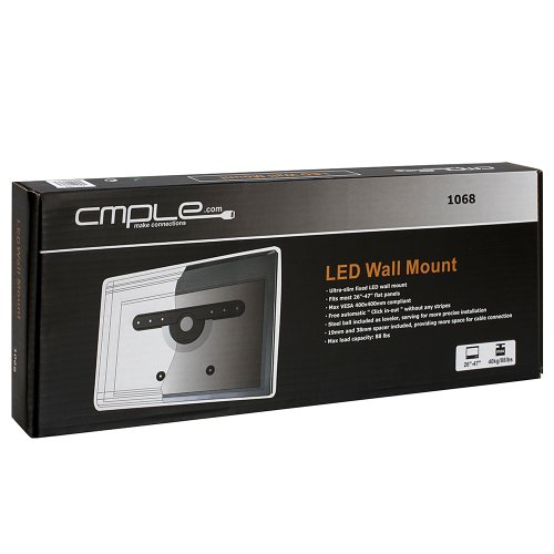 """Ultra Slim Automatic Lock Mechanism Wall Mount For 26""""-47"""" Led, Lcd Tvs."""