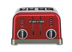 Cuisinart CPT-180MR Metal Classic 4-Slice Toaster, Metallic Red