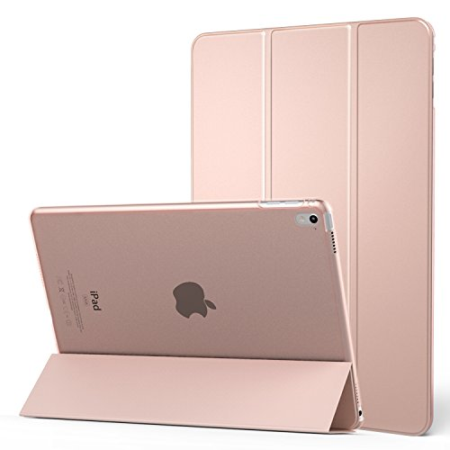 iPad Pro 9.7 Case - MoKo Ultra Slim Lightweight Smart-shell Stand Cover with Translucent Frosted Back Protector for Apple iPad Pro 9.7 Inch 2016 Release Tablet, Rose GOLD (with Auto Wake / Sleep)