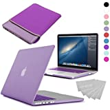 LOVE MY CASE / BUNDLE PURPLE Hard Shell Case with matching KEYBOARD Skin and NEOPRENE Sleeve Cover for 13-inch Apple MacBook PRO with Retina Display [Will only fit MacBook PRO Retina Display Models - NO CD/DVD DRIVE]
