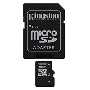 Professional Kingston MicroSDHC 8GB (8 Gigabyte) Card for Motorola XOOM Family Edition Phone with custom formatting and Standard SD Adapter. (SDHC Class 4 Certified) at Electronic-Readers.com